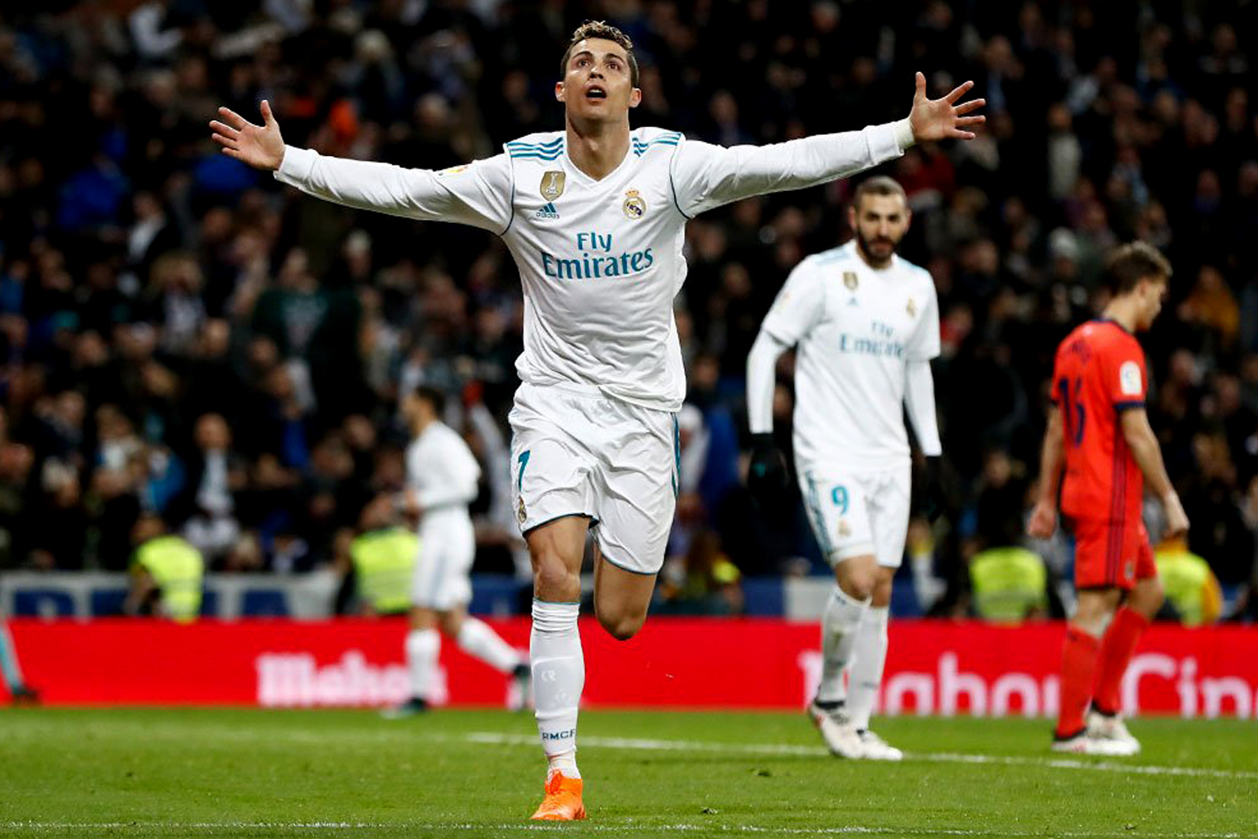 Real Madrid golea 5-2 a la Real Sociedad