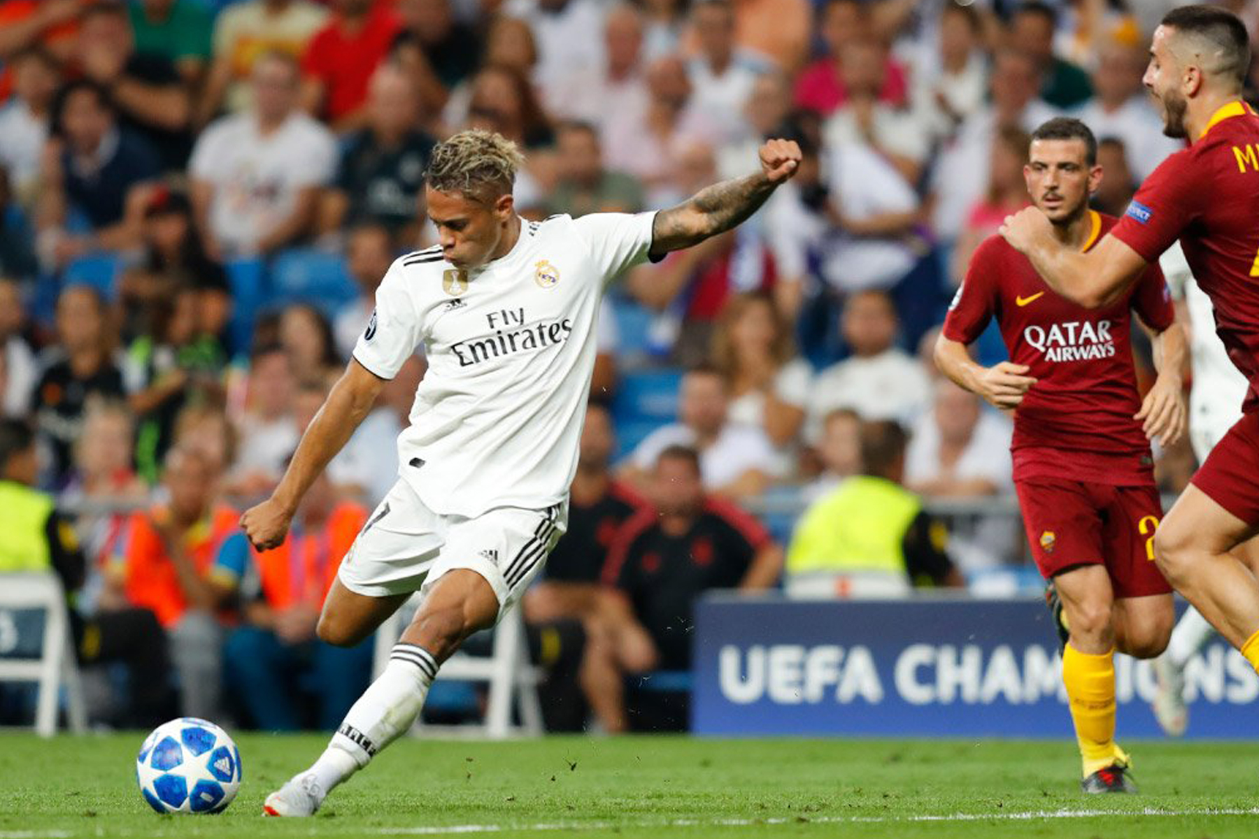Real Madrid golea a la Roma
