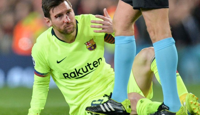 Messi sufre fractura nasal